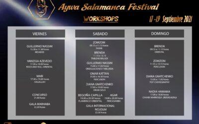 Horarios Workshops Aywa Salamanca festival